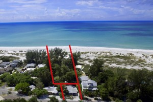 1.23 Acres Gulf Front Lot w/2BR Cottage